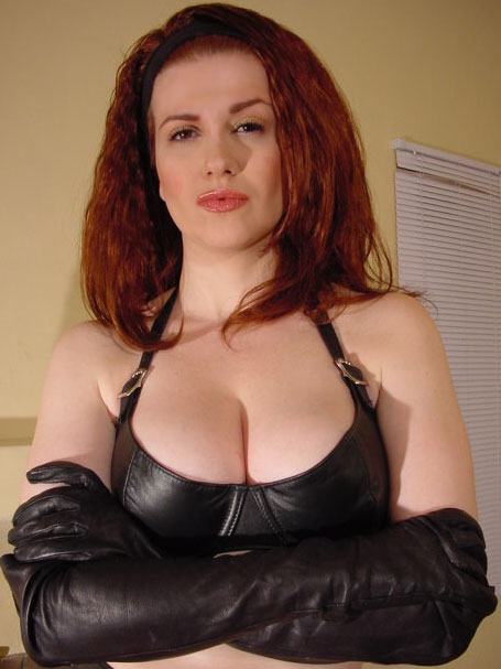 Mistress Tara Indiana in Leather Opera Gloves